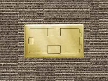 R1X Brass Floor Box