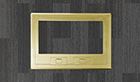 Brass cover w/recess and beveled edges