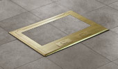Brass cover w/recess and beveled edge