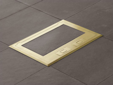 Floor Outlet Boxes And Covers In Floor Brass Outlets